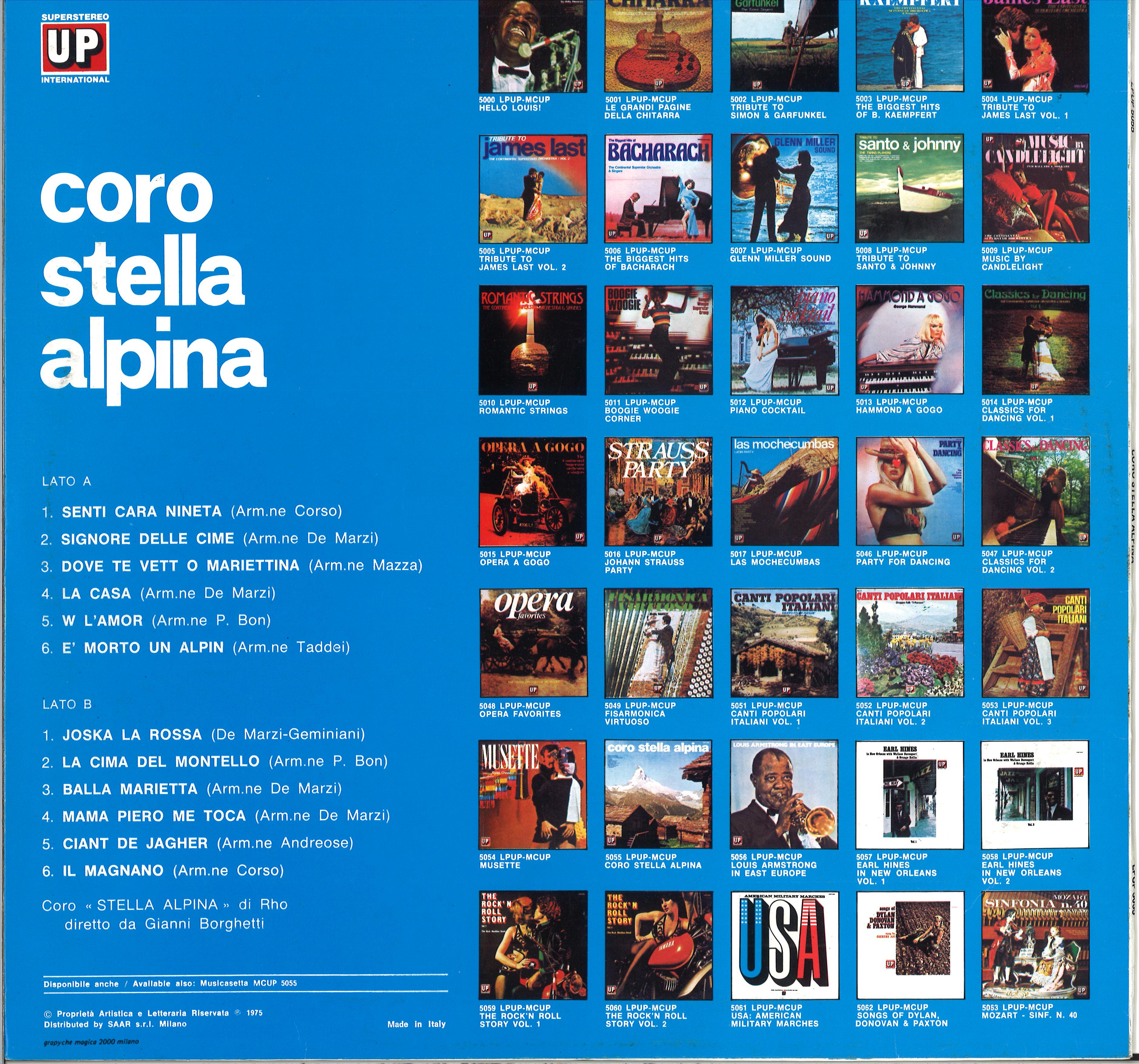 primo disco seconda copertina retro
